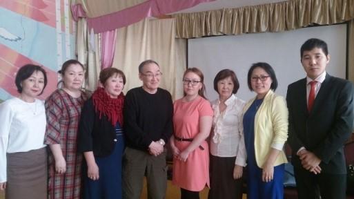 Вместе с Н. И. Бугаевым, к. ф. н. - научным вдохновителем педагогов республики