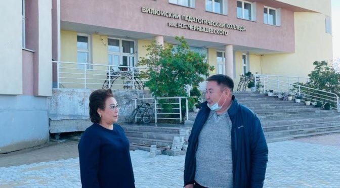 Феодосия Габышева посетила Вилюйский колледж